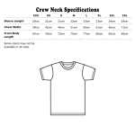 Crew neck Specifications Metric