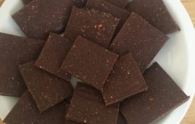 orange chocolate date power bars