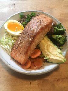 Teriyaki Salmon Macro Bowl