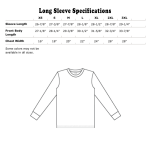 Long Sleeve Specifications US