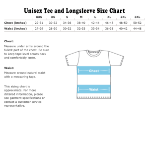 Tee and LS size chart US
