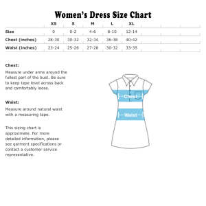 Women's Dress size chart US