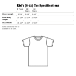 Crew Neck Specifications US