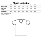 vneck specifications Metric